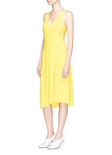 Theory'Tadayon B' asymmetric hem crepe dress
