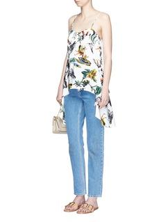 TibiGothic floral print silk camisole top