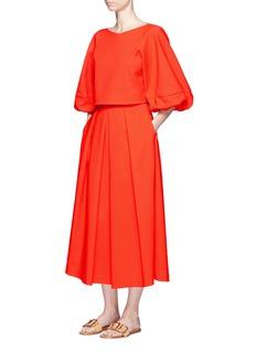 Tibi'Agathe' high waist pleated midi skirt