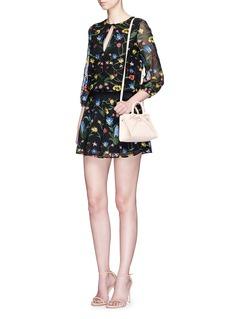 alice + olivia'Jolene' floral embroidered dress