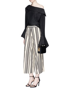 alice + olivia 'Sherice' stripe cropped high waist pants