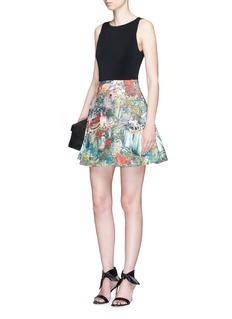 alice + olivia'Kourtney' scenery print box pleated dress