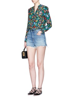 alice + olivia 'Betty' oversized floral print tunic