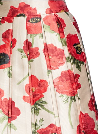 Detail View - Click To Enlarge - alice + olivia - 'Fizer' box pleated floral jacquard skirt