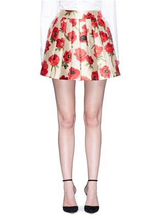 Main View - Click To Enlarge - alice + olivia - 'Fizer' box pleated floral jacquard skirt