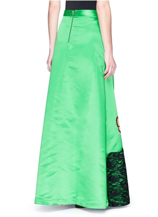 Back View - Click To Enlarge - alice + olivia - 'Ursula' embellished Stace Face satin ball gown skirt