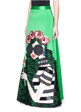 Front View - Click To Enlarge - alice + olivia - 'Ursula' embellished Stace Face satin ball gown skirt