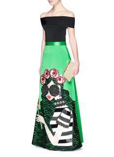 alice + olivia'Ursula' embellished Stace Face satin ball gown skirt