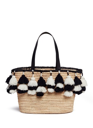 Detail View - Click To Enlarge - alice + olivia - 'Sally' pompom straw tote