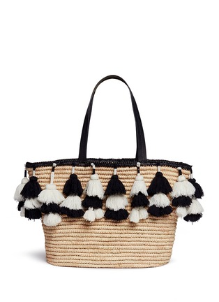 Main View - Click To Enlarge - alice + olivia - 'Sally' pompom straw tote