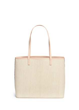 Detail View - Click To Enlarge - alice + olivia - 'Stace Face' embellished straw tote