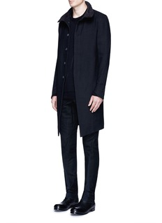 DEVOA Stand collar long coat