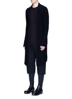 DEVOA Cashmere-mink blend long cardigan