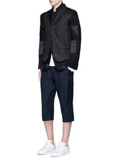 Comme Des Garçons ShirtBack waist strap cotton waistcoat