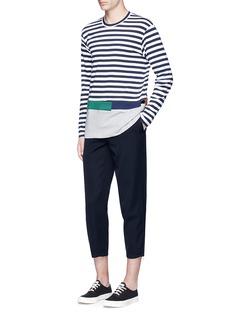 Comme Des Garçons ShirtStripe patchwork long sleeve T-shirt