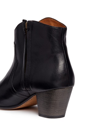 Detail View - Click To Enlarge - Isabel Marant Étoile - 'Dicker' leather ankle boots