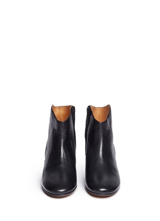 Front View - Click To Enlarge - Isabel Marant Étoile - 'Dicker' leather ankle boots