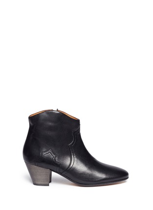 Main View - Click To Enlarge - Isabel Marant Étoile - 'Dicker' leather ankle boots
