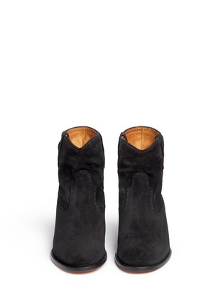 Front View - Click To Enlarge - Isabel Marant Étoile - 'Crisi' slouch cuff suede ankle boots