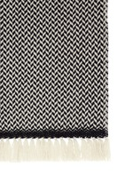 'Alena' fringed wool-cashmere herringbone scarf