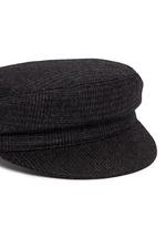 'Evie' wool blend plaid flannel cap