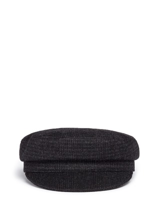 Main View - Click To Enlarge - Isabel Marant Étoile - 'Evie' wool blend plaid flannel cap