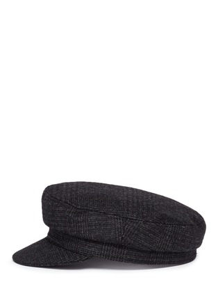 Figure View - Click To Enlarge - Isabel Marant Étoile - 'Evie' wool blend plaid flannel cap