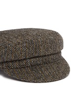 'Evie' herringbone virgin wool boyish cap