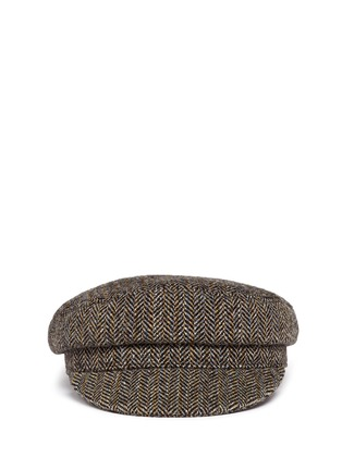 Main View - Click To Enlarge - Isabel Marant Étoile - 'Evie' herringbone virgin wool boyish cap