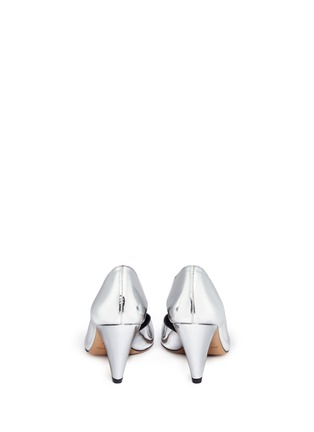 Back View - Click To Enlarge - Isabel Marant Étoile - 'Palma' mirror leather d'Orsay pumps