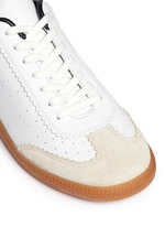 'Bryce' brogue trim leather sneakers