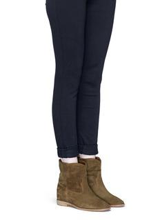 ISABEL MARANT ÉTOILE单色绒面皮短靴
