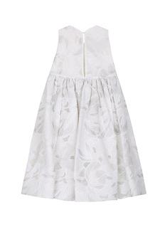 MISS MATICEVSKI Layla儿童款蝴蝶拼贴装饰刺绣连衣裙