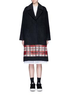 Cynthia & XiaoTextured tartan felted wool-cashmere coat
