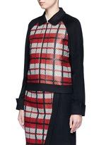 Textured tartan felted wool-cashmere jacket