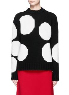 MSGMPolka dot wool blend grunge sweater