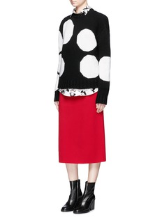 MSGM Polka dot wool blend grunge sweater