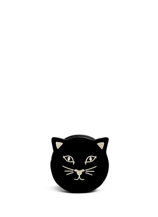 Main View - Click To Enlarge - Charlotte Olympia - 'Pussycat Purse' velvet crossbody bag