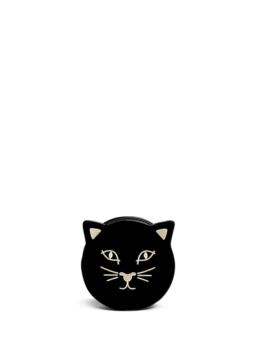 Pussycat Purse velvet crossbody bag by Charlotte Olympia