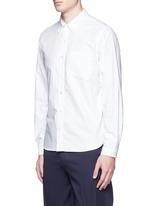 Button down collar cotton Oxford wind shirt