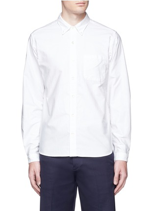 Main View - Click To Enlarge - Nanamica - Button down collar cotton Oxford wind shirt
