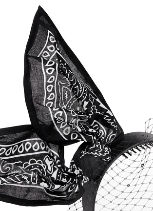 Detail View - Click To Enlarge - Piers Atkinson - 'Bandita' Swarovski crystal veil bandana bow headband
