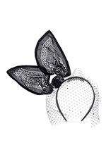 'Bandita' Swarovski crystal veil bandana bow headband