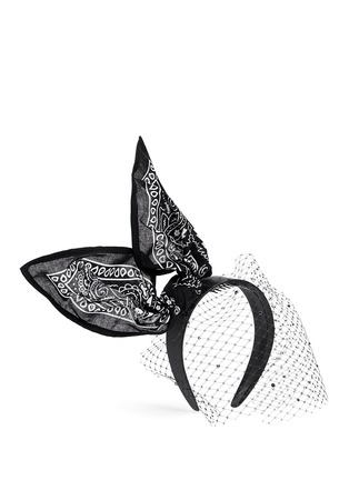 Figure View - Click To Enlarge - Piers Atkinson - 'Bandita' Swarovski crystal veil bandana bow headband