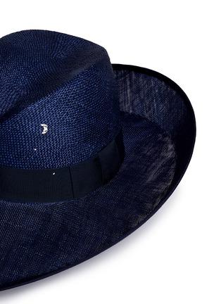 Piers Atkinson-Swarovski crystal straw combo fedora hat