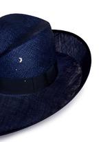 Swarovski crystal straw combo fedora hat