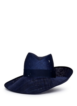 Main View - Click To Enlarge - Piers Atkinson - Swarovski crystal straw combo fedora hat