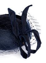Crin veil flying bow straw percher hat