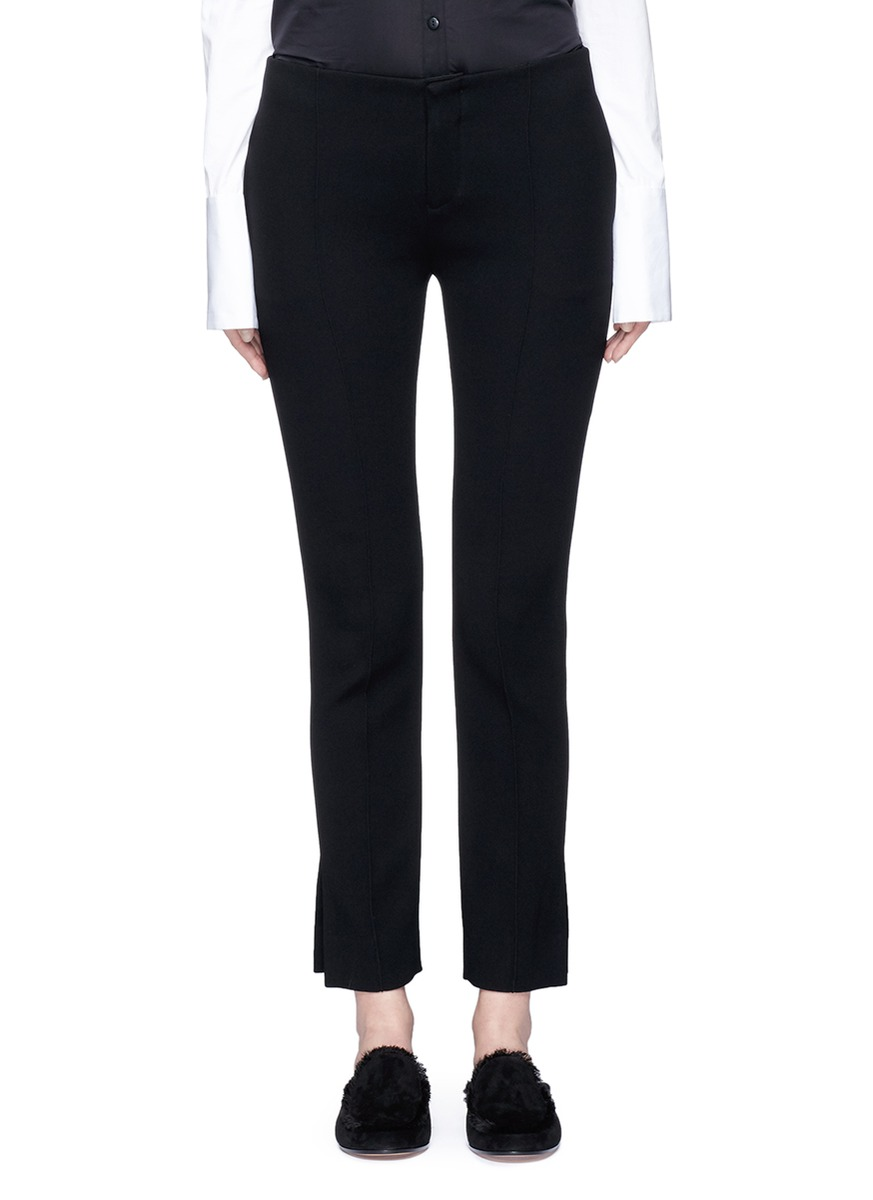 Split cuff suiting pants by Ms MIN