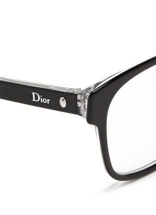 Detail View - Click To Enlarge - Dior - Contrast coating acetate optical glasses